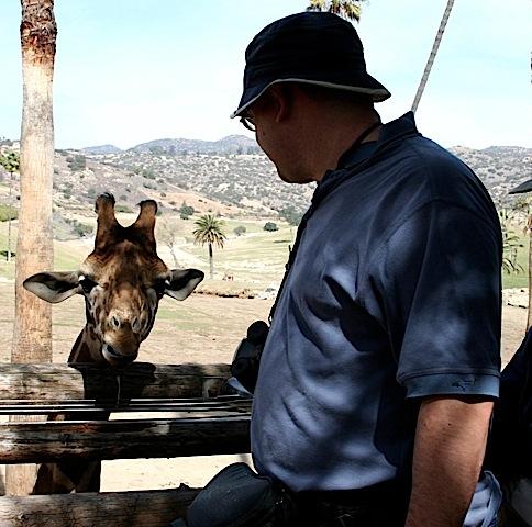 Image of me feeding a giraffe