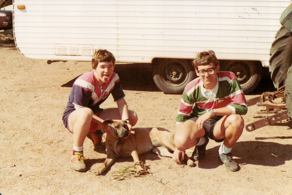 1982, Ben and I at Gulgong NSW, Jerseys were with us everywhere